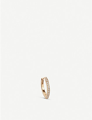 REPOSSI: Antifer 18ct rose-gold and diamond single earring