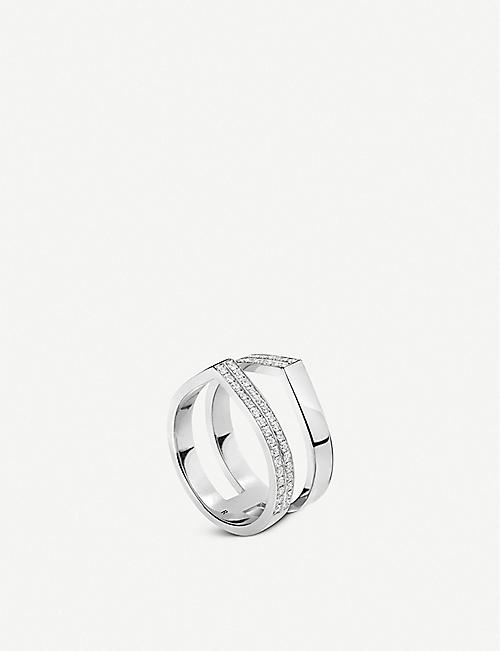 REPOSSI Antifer double row 18ct white-gold and diamond ring