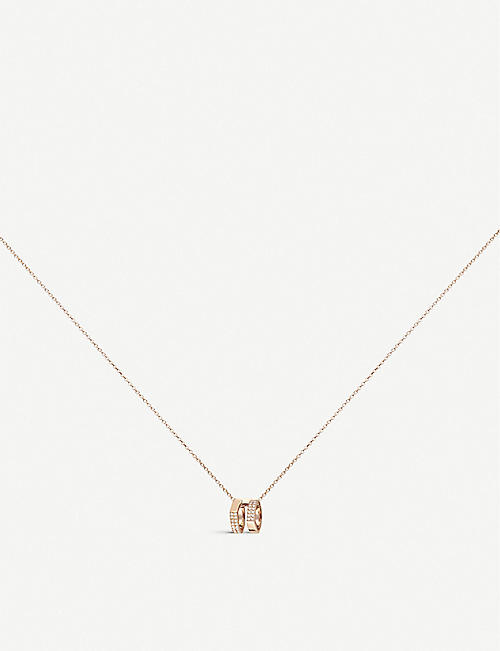 REPOSSI: Antifer 18ct pink-gold and diamond necklace