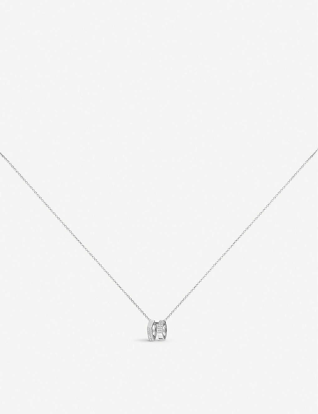 REPOSSI: Antifer 18ct white-gold and diamond necklace