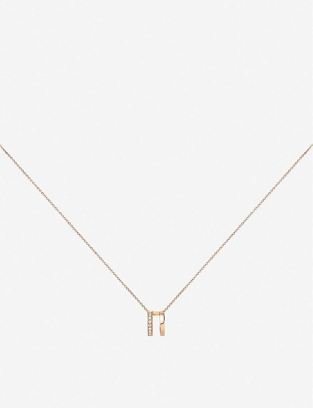 REPOSSI: Berbere 18ct rose-gold and diamond pavé necklace