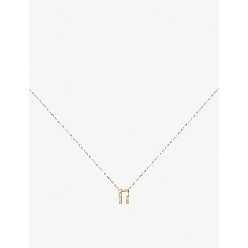 Repossi BERBERE 18CT ROSE-GOLD AND DIAMOND PAVÉ NECKLACE