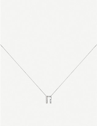 REPOSSI: Berbere 18ct white-gold and diamond pavé necklace
