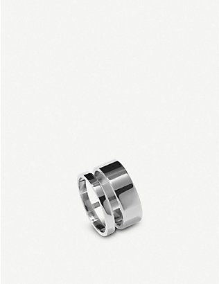 REPOSSI: Berbere Module 18ct white-gold ring