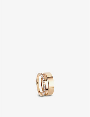 REPOSSI: Berbere Module 18ct rose-gold and diamond pavé ring