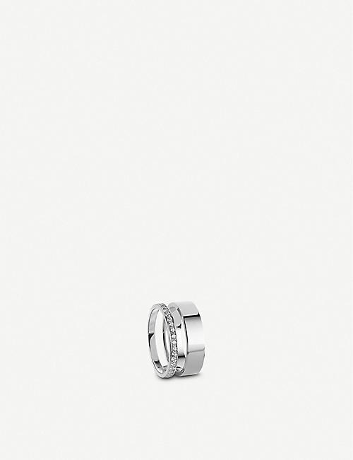 REPOSSI: Berbere Module 18ct white-gold and diamond pavé ring