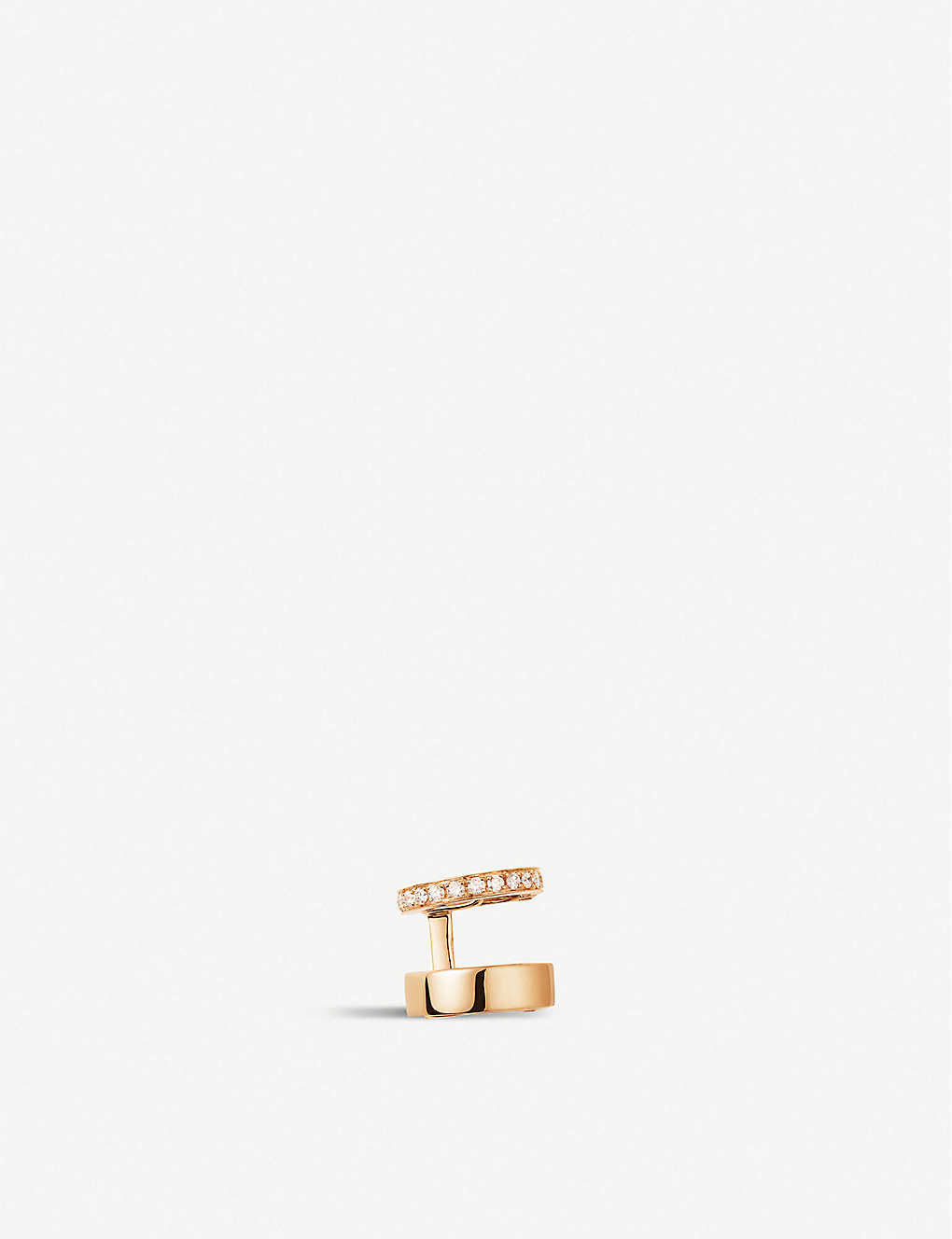REPOSSI: Berbere Module 18ct rose-gold and diamond pavé ear cuff
