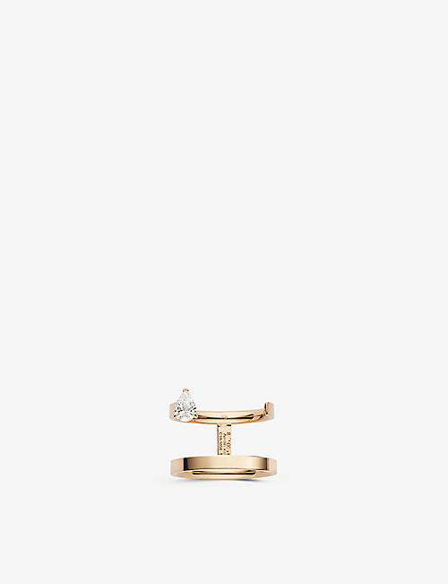 REPOSSI Serti Sur Vide 18ct rose-gold and diamond ring