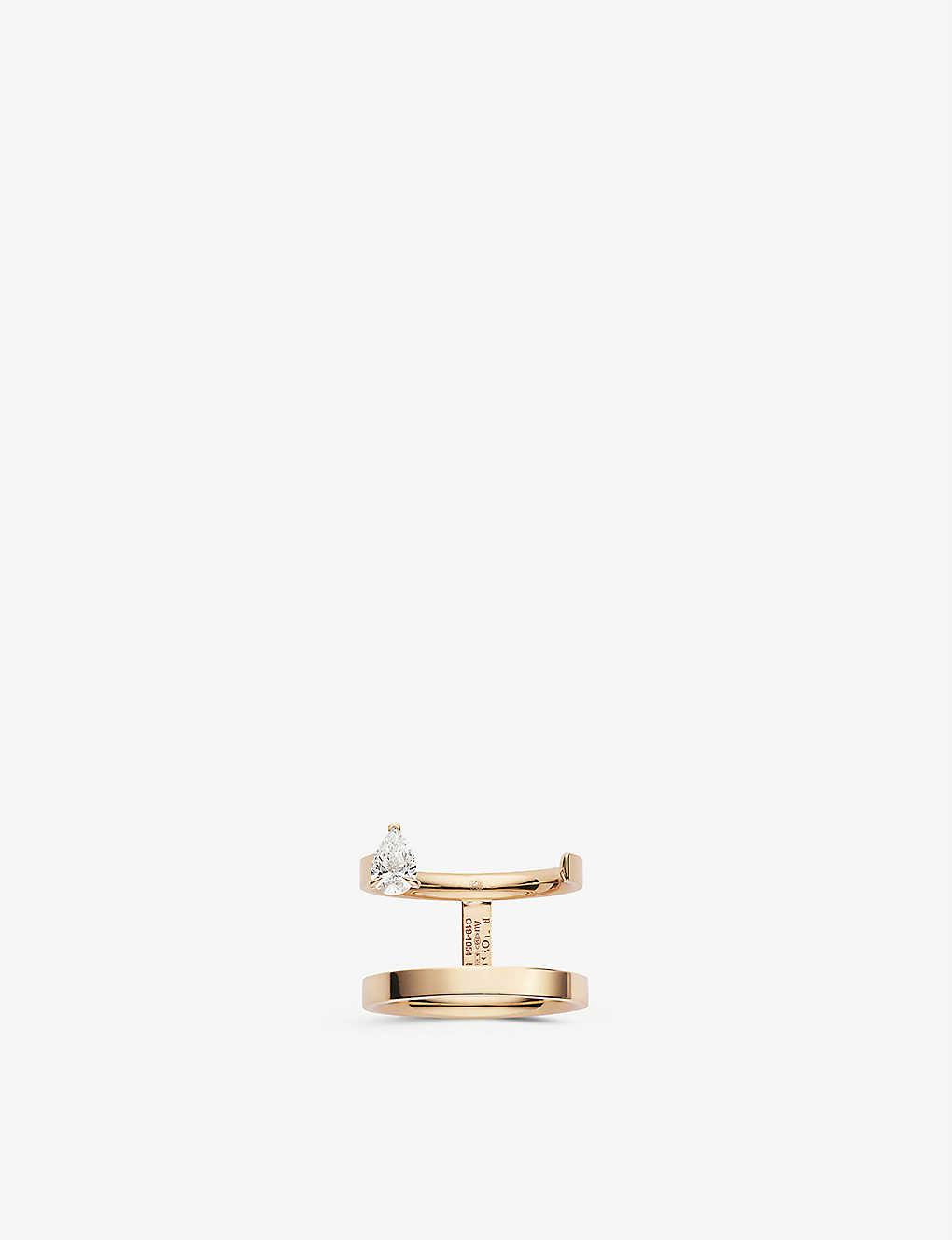 Repossi SERTI SUR VIDE 18CT ROSE-GOLD AND DIAMOND RING