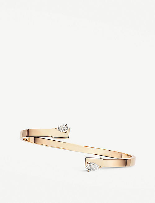 REPOSSI: Serti Sur Vide 18ct rose-gold and diamond bracelet