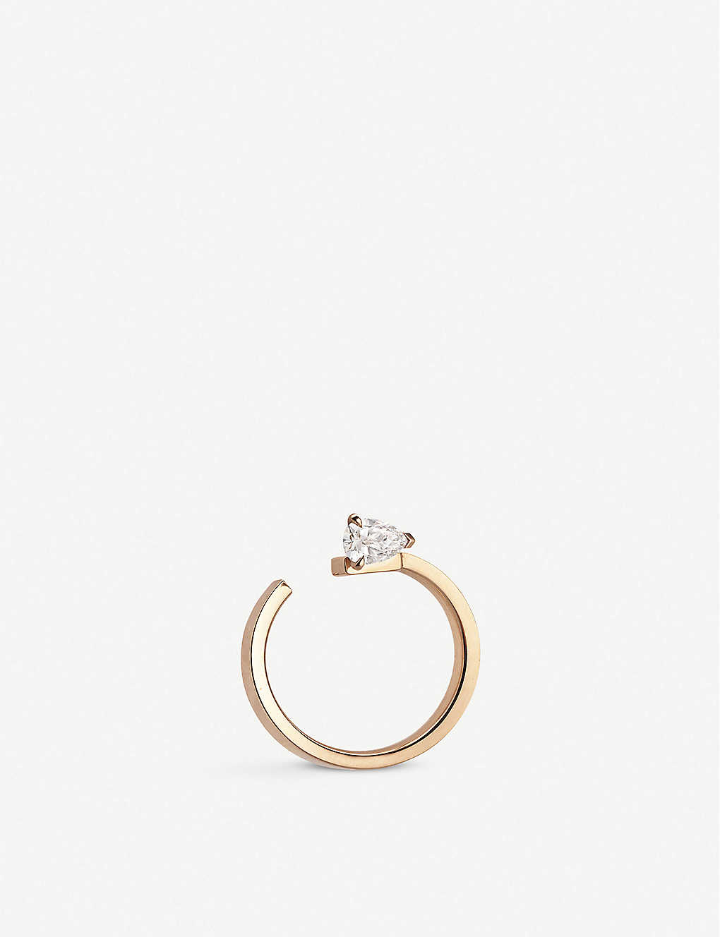 REPOSSI: Serti Sur Vide 18ct rose-gold and diamond ring