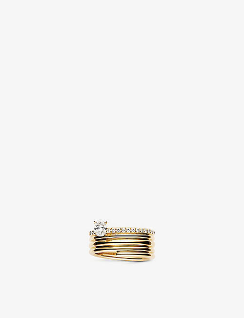 REPOSSI Blast 18ct pink-gold and diamond ring