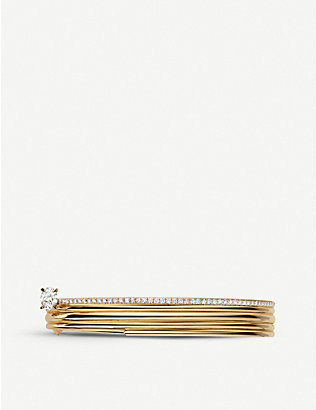 REPOSSI: Blast 18ct pink-gold and diamond bracelet