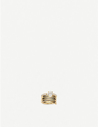 REPOSSI: Blast 18ct pink-gold and diamond right ear cuff