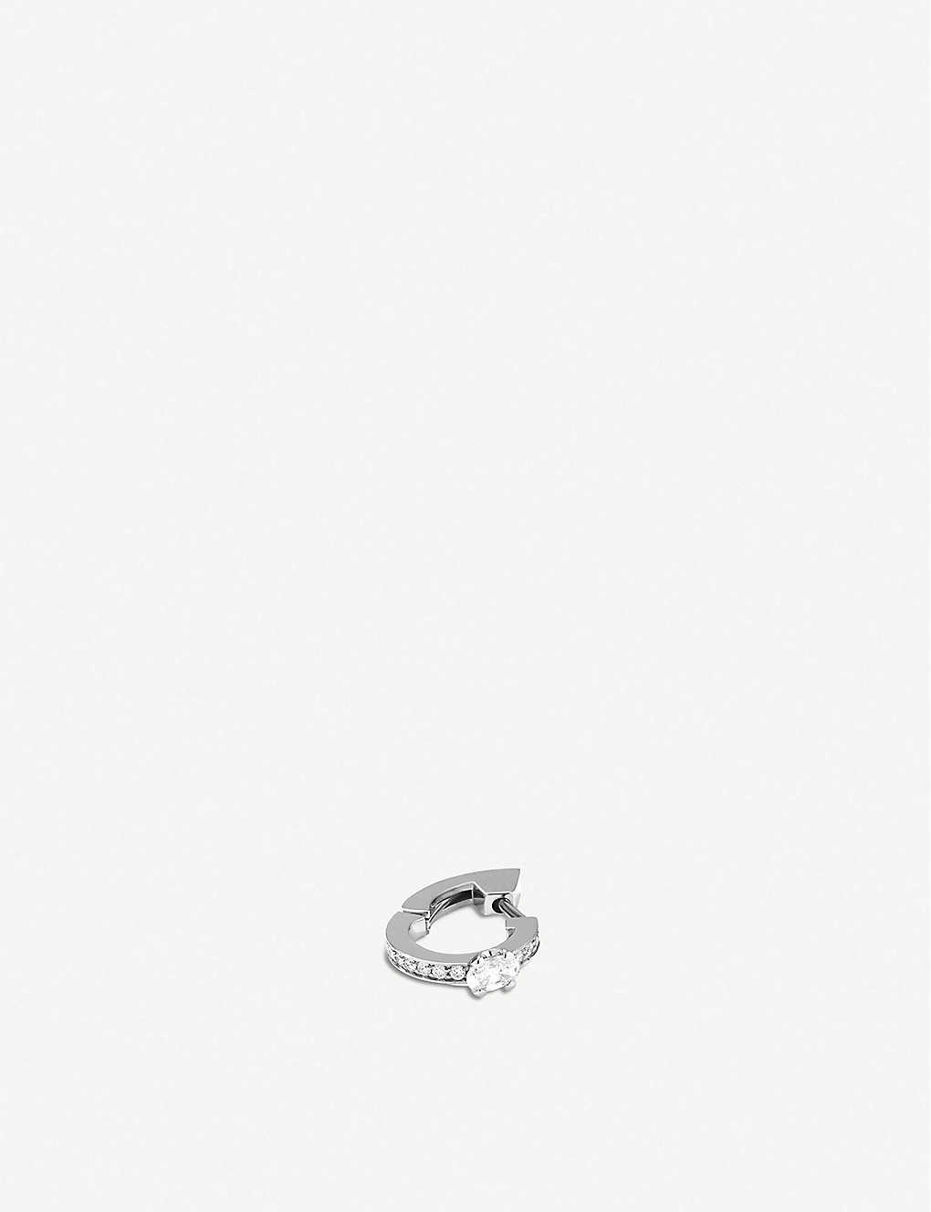 REPOSSI HARVEST 18CT WHITE-GOLD AND DIAMOND EARRING