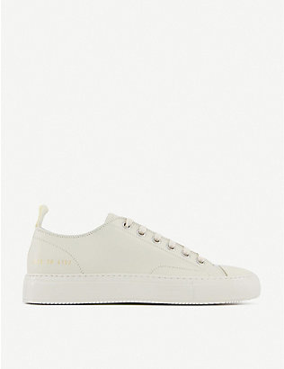 COMMON PROJECTS: Tournament Super leather low-top trainers