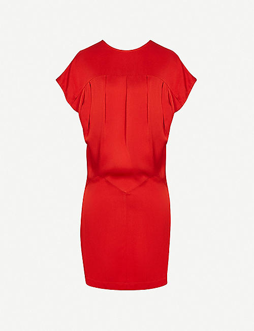 REISS: Tara draped crepe mini dress