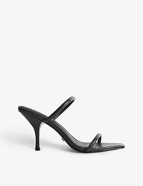 REISS: Magda backless heeled leather sandals