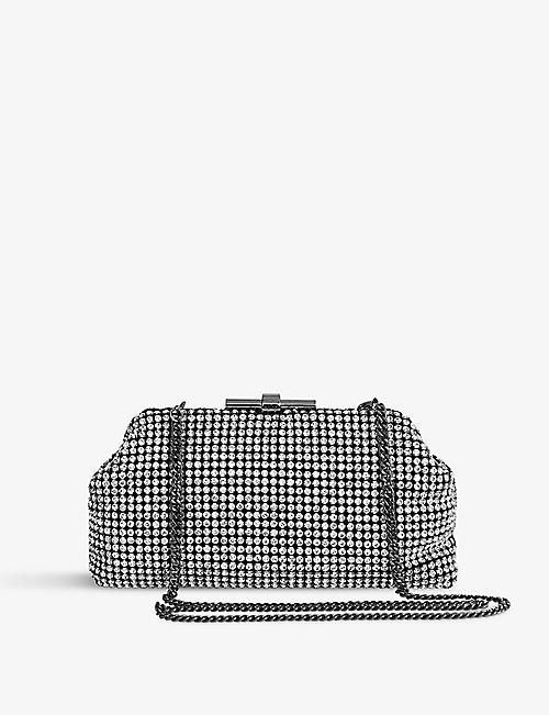 REISS: Adaline embellished clutch bag