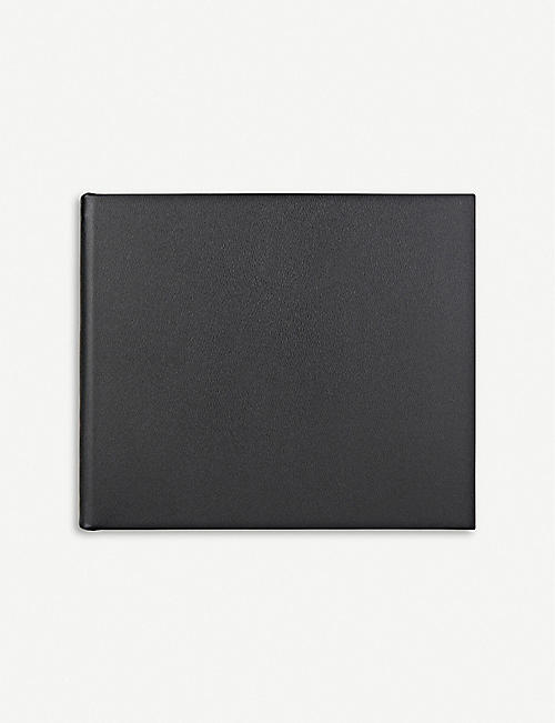 SMYTHSON: Logo-embossed leather visitors book 21cm