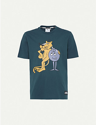 PUMA: PUMA x THE HUNDREDS graphic-print stretch-jersey T-shirt