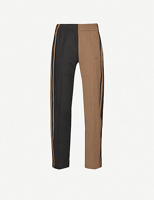 PARADOXE: Duo Technical striped cotton jogging bottoms