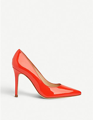 LK BENNETT: Fern pointed-toe patent-leather courts