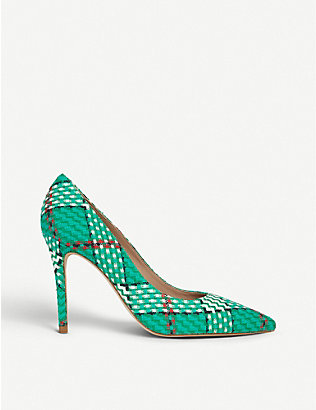 LK BENNETT: Fern pointed-toe tweed courts