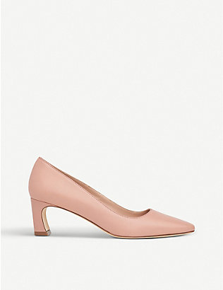 LK BENNETT: Freya block-heel leather courts
