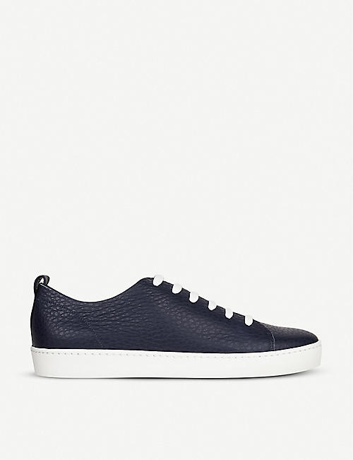 LK BENNETT: Tulum low-top grainy leather trainers