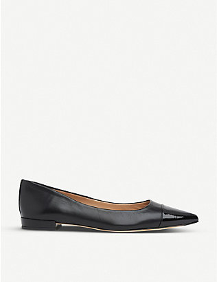 LK BENNETT: Perth toe-cap leather ballet flats