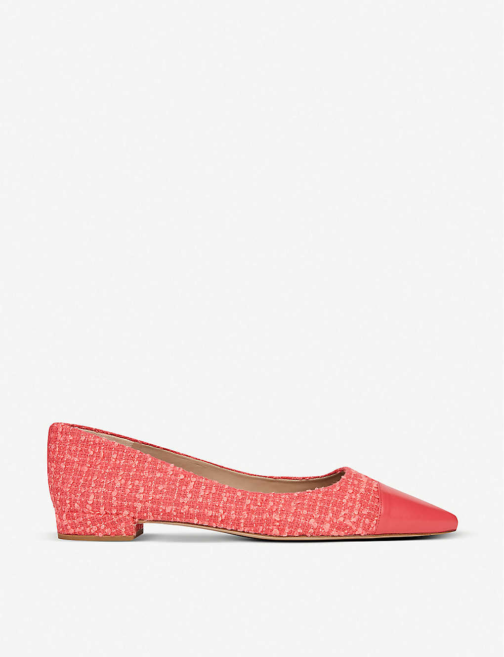 LK BENNETT: Perth toe-cap tweed and leather ballet flats