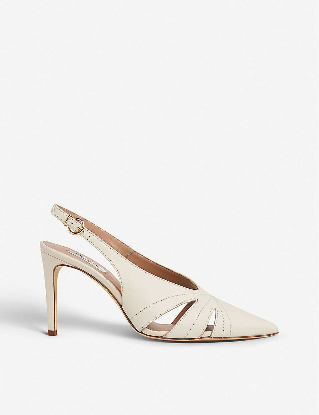 LK BENNETT: Helena cut-out leather courts