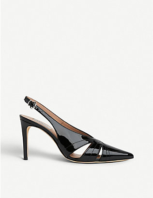 LK BENNETT: Helena cut-out patnent-leather courts