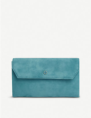 LK BENNETT: Dora suede cross-body clutch