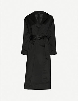 KWAIDAN EDITIONS: Belted shawl-lapel woven coat