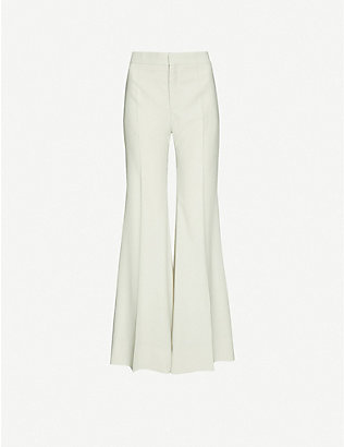 KWAIDAN EDITIONS: Flared high-rise wool trousers