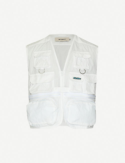 MISBHV Patch-pocket mesh gilet