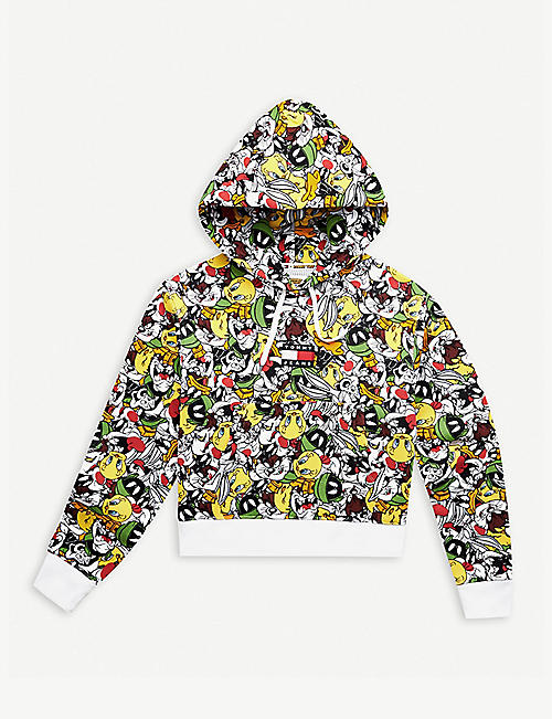 TOMMY JEANS: Tommy Jeans x Looney Tunes cartoon-print cotton-blend hoody
