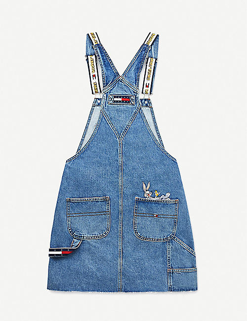 TOMMY JEANS Looney Tunes x Tommy Jeans graphic-embroidered denim mini dress