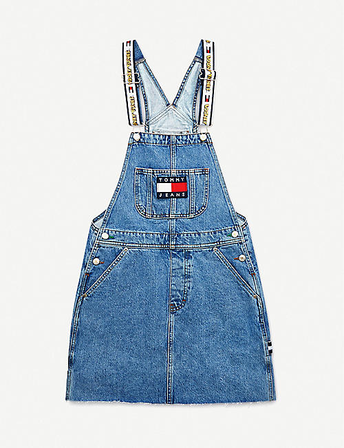 TOMMY JEANS: Looney Tunes x Tommy Jeans graphic-embroidered denim mini dress