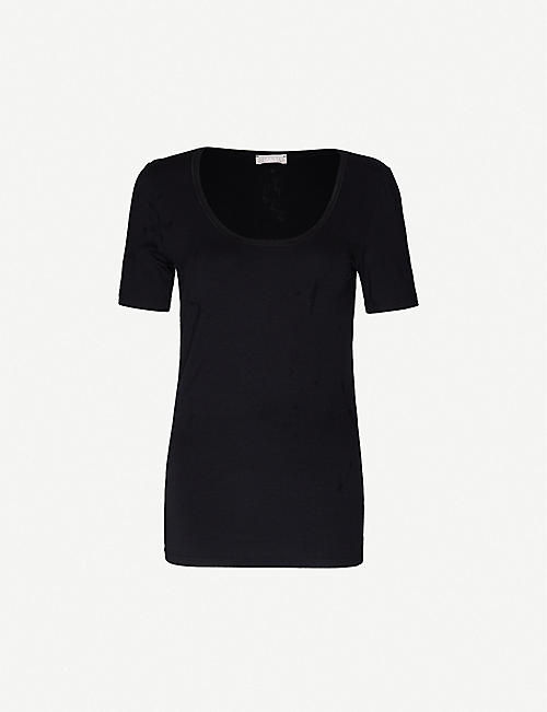 HANRO: Cotton Sensation cotton-jersey T-shirt