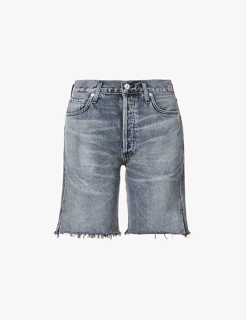 CITIZENS OF HUMANITY: Claudette slim high-rise organic-denim shorts