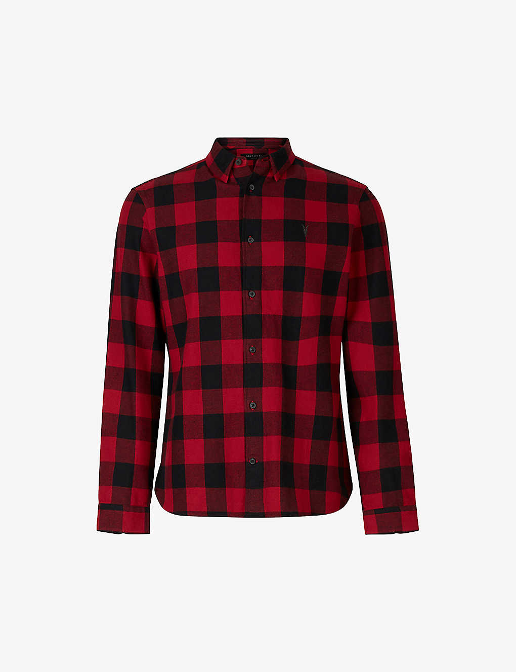 ALLSAINTS: Lumber checked slim-fit cotton shirt