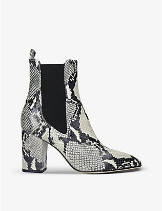 PARIS TEXAS: Snakeskin-embossed leather Chelsea boots