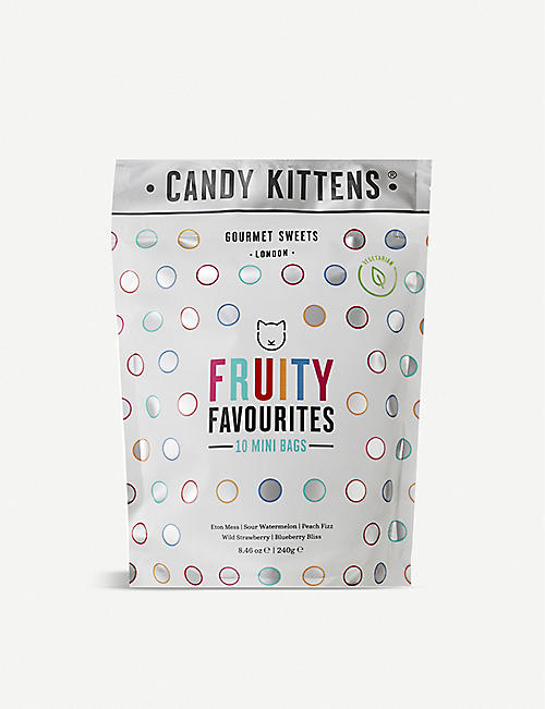 CANDY KITTENS: Fruity Favourites gummy sweets pack of 10 240g