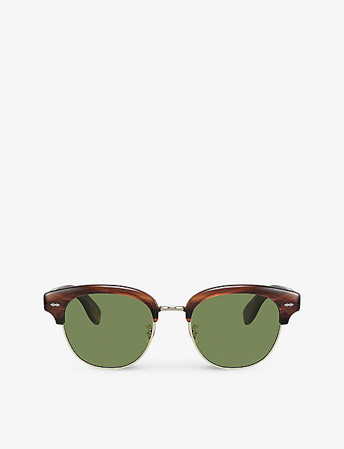 OLIVER PEOPLES: OV5436S Cary Grant round-frame acetate sunglasses