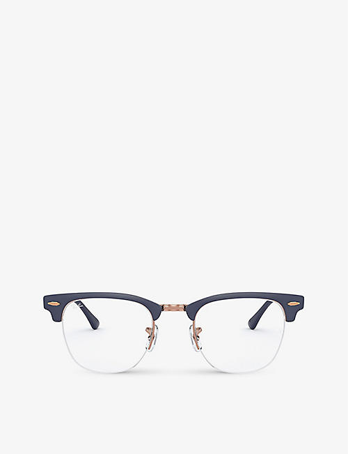 RAY-BAN: RX3716VM Clubmaster Gaze acetate square glasses
