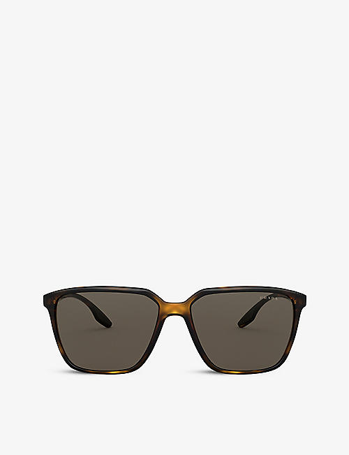 PRADA LINEA ROSSA: PS 06VS square acetate sunglasses