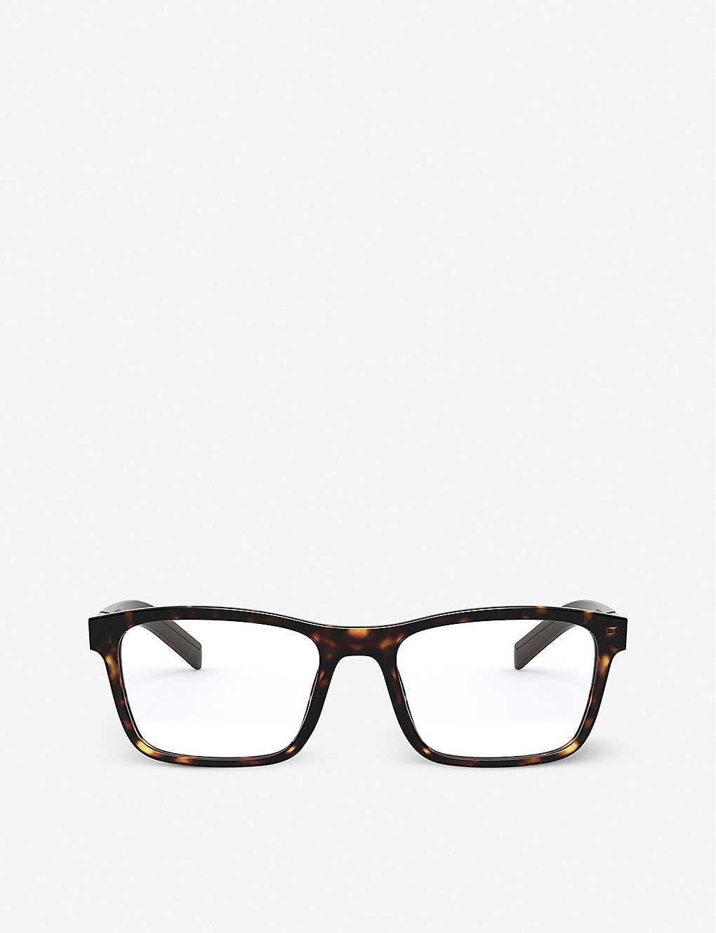 PRADA: PR 16XV tortoiseshell-print acetate eyeglasses